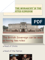 role of the monarchy in the united kingdom