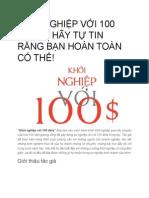KHỞI NGHIỆP VỚI 100 ĐÔLA