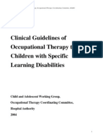 Ot Guidelines Child Specific
