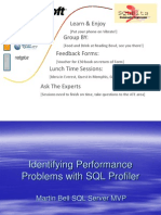 Identifying Performance Problems With SQL 2005 Profiler - Martin Bell