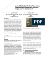 Formative Assessment Method of Real-world Learning by Integrating Heterogeneous Elements of Behavior, Knowledge, and the Environment