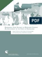 Aboriginal Food Security in Northern Canada