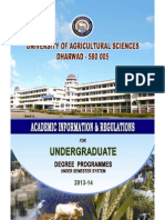 Agricultural University Dharwad Prospectus