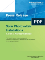 Solar Photovoltaic Cumulative Installations to Grow by Robust 33% CAGR (2010-2020) to Reach 732 Gigawatts