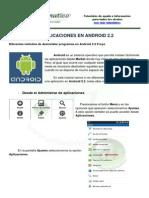 Desisntalar Aplicaciones Android 2.2