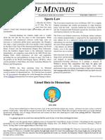 MLS De Minimis Vol 2. Issue 1