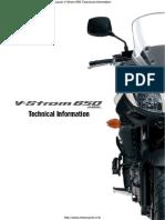 Suzuki v Strom Techncal Information Brochure