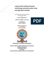 PANKAJ_THESIS_Maximum Power Point Tracking and Power Smoothing in Wind Energy Conversion System Using Fuzzy Logic Pitch Controller
