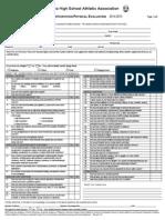 medical form 2014