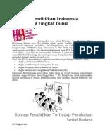 Kualitas Pendidikan Indonesia Ranking 69 Tingkat Dunia