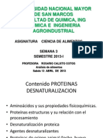 Semana 3 Proteinas I
