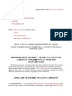 Administrative Negative Averment for Unlawful Garnishment Of