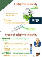 Jenis Penyesuaian Imunisasi