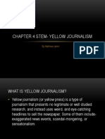 chapter 4 stem- yellow journalism