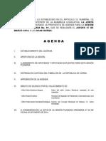 27 Marzo 2014 Agenda