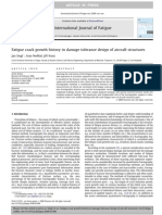 Fatigue Crack Growth History in Damage Tolerance Design of Aircraft Structures