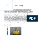 Wave Energy and its Advancement