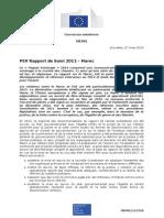 Commission européenne, Rapport de suivi 2012 sur le Maroc MEMO-14-230_FR