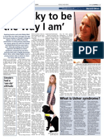 Feature on Usher Syndrome and deafblindness