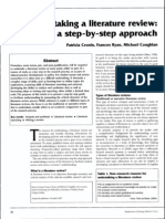 0. Cronin, Ryan, And Coughlan (2008) Undertaking a LR-A Step-By-step Approach