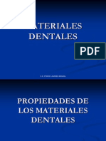 PROPIDADES MATERIALES DENTALES