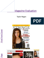 music magazine evaluation pp