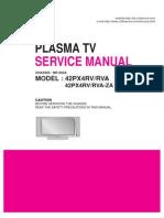 Tv Plasma Lg 42px4rv Rva 42px4rv Rva Za Chassis Mf