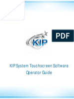 KIP Systems Touchscreen Operators Guide