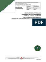 Pedoman Format Portofolio Proyek Perancangan