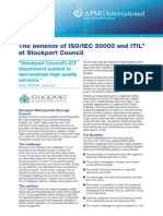 The Benefits of ISOIEC 20000 and ITIL at Stockport Council