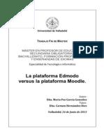 Plataforma Edmodo vs Moodle