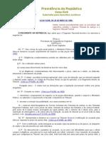 LEI Nº 8.038, DE 28 DE MAIO DE 1990 - Normas para processos no STJ e STF