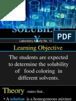 Solubility in Inorganic Chemistry