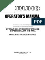 FR2105-B Series Operator's Manual