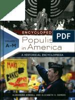 """Thomas Jefferson"" in ""Encyclopedia of American Populism."""