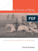 Aryeh Kosman (2013) - The Activity of Being -An Essay on Aristotle