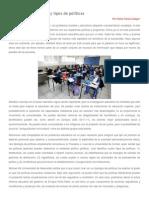 Desigualdad educativa y tipos de políticas