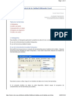 Control de Calidad Utilizando Excel
