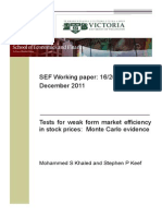 Khaled Keef Weak Market Efficiency Montecarlo Working Paper