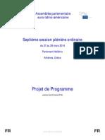 Programme 7ème session plénière EuroLat