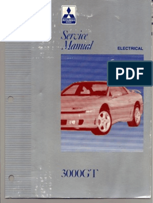 servicemanual mitsubishi 3000gt 1992-1996 vol.2 electrical | fuse ...  scribd