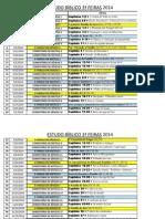 0 CALENDÁRIO E ORGANOGRAMA DO ESTUDO BÍBLICO DAS 3ª FEIRAS - 2014.xlsx