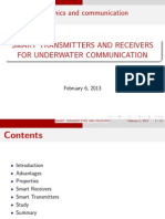 Smart Transmitters and Receivers for Under Water Communication