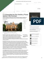 La Universidad de San Andrés y Posse quieren Villa Ocampo