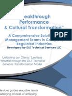 Breakthrough Performance - a Transformation Model