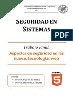 Seguridad en Sistemas - Características de HTML5