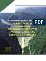 Controversia Entre El Parque Nacional Cerros de Amotape y El Proyecto de Irrigacion Puyango Tumbes