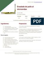 Sabores en Linea - Ensalada de Pollo Al Microondas - 2014-03-17