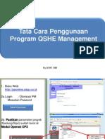 Presentation QSHE Management