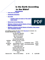 How Old is the Earth According to the Bible